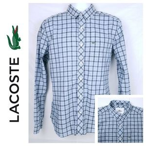 Lacoste Mens Large 40 / Medium Long Sleeve Button